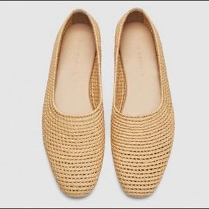 🌞 Zara Raffia Braid Loafers Handmade Collection🌞